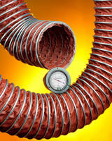 Flexible Two-Ply Clip Hose handles temperatures up to 1,200°F.