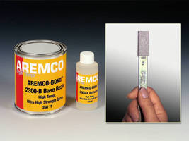 Epoxy Adhesive offers temperature resistance up to 350°F.