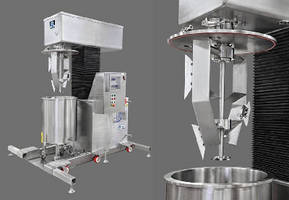 Dual-Shaft Mixer offers working capacity of 10-30 gallons.