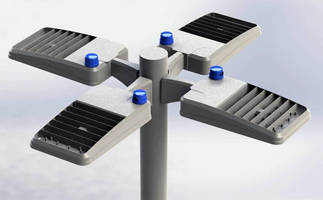 Pole-Mounted LED Luminaires suit roads, walkways, parking lots.