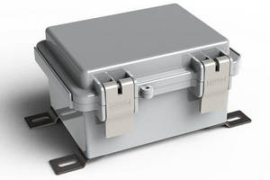 Hinged Electrical Enclosures meet IP66 and IEC529 requirements.