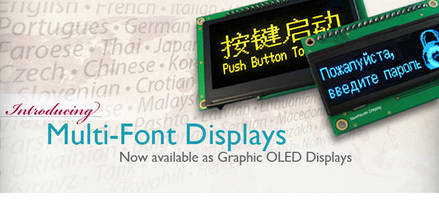 OLED Displays integrate multi-font IC.