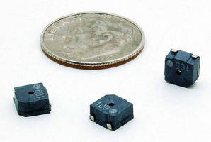 Miniature SMT Audio Transducer produces 80 dBA min SPL.
