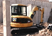 Mini Hydraulic Excavators dig deep, but don't swing wide.