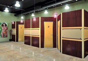 Privacy Rooms feature sliding pocket or hinged swing doors.