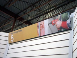 Signboards are suited for retailers and tradeshow booths.
