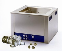 Ultrasonic Cleaners are available in volumes up to 47.6 gal.