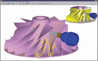 CAM Software facilitates turbine components machining.