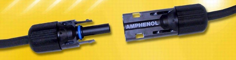Connector features locking design to meet NEC 2008.