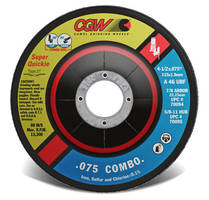Cutting/Grinding Wheels feature thickness of 0.75 in.