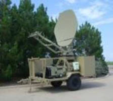 Military Tactical Communications Terminal is HMMWV-towable.