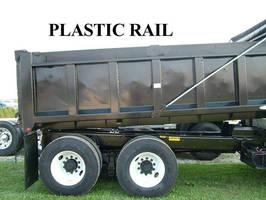 Plastic Rail replaces wood rail used in dump trucks.