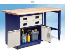 Storage Cabinet Workbenches support static load of 1,000 lb.