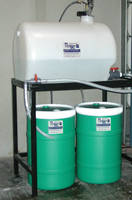 Freestanding Dispenser suits all types of cleaning chemicals.