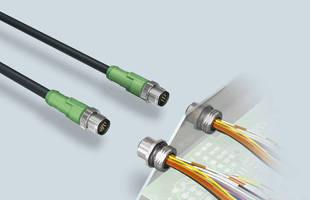 M12 Connectors are available in 12- and 17-pole versions.