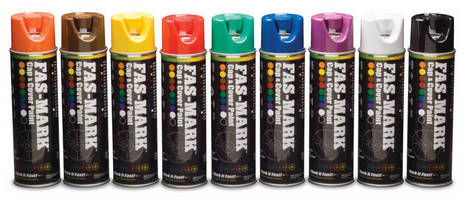 Cap and cover spray paint permits upside down application for Upside down paint sprayer