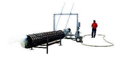 Semi-Automated Water Jet System suits tube bundle cleaning.