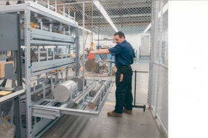 Custom Roll-Out Shelf Racks handle heavy duty materials.