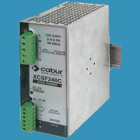 Switching Power Supply has input range from120-230 Vac.