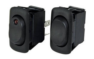 Single- and Double-Pole Rocker Switches are water and dust resistant.
