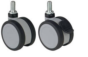 Swivel Casters feature twin wheel, light duty construction.