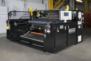 Blown Film Surface Winder handles up to 60 in. dia rolls.