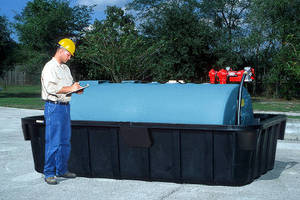 Containment Sump offers 1,100 gal capacity.