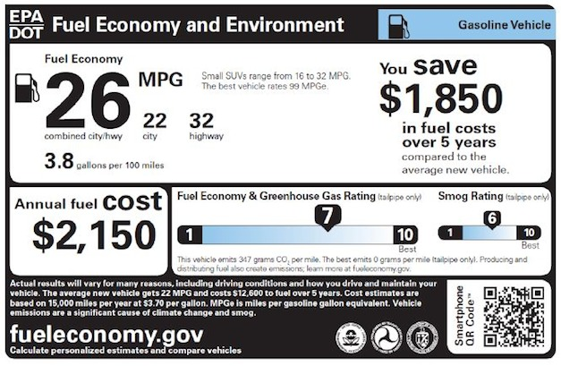 Fuel Economy Gov >> New Fuel Economy Labels Indicate Vehicle S Environmental Impact