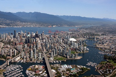 Vancouver BC aerial photo