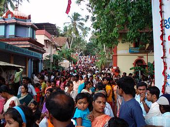 Street scene in Varkala, India