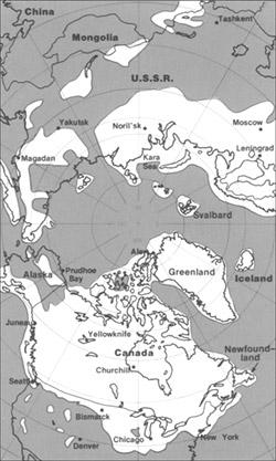 Pleistocene ice cover