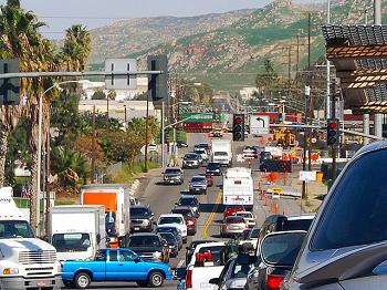 Traffic in Riverside, California