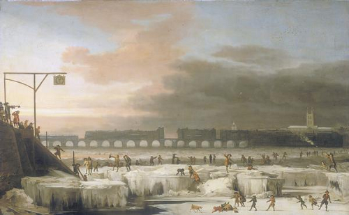 Painting, The Frozen Thames