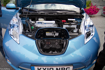 Under the hood of the Nissan Leaf