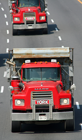 Photo of trucks on highway
