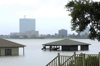 Photo of hurricane flooding in Louisiana