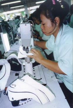 Worker in a Nike contract manufacturer in Thailand