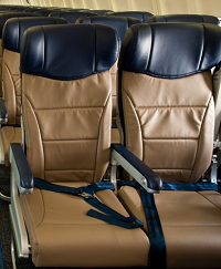 E-Leather eco-friendly seat covers. Credit: Southwest Airlines.