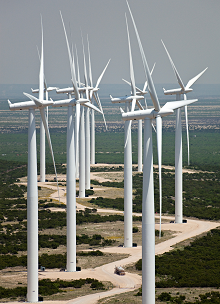 Elbow Creek Wind Project, Texas. Courtesy of Siemens.