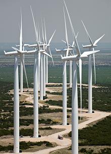 Elbow Creek Wind Project, Texas. Courtesy of Siemens.