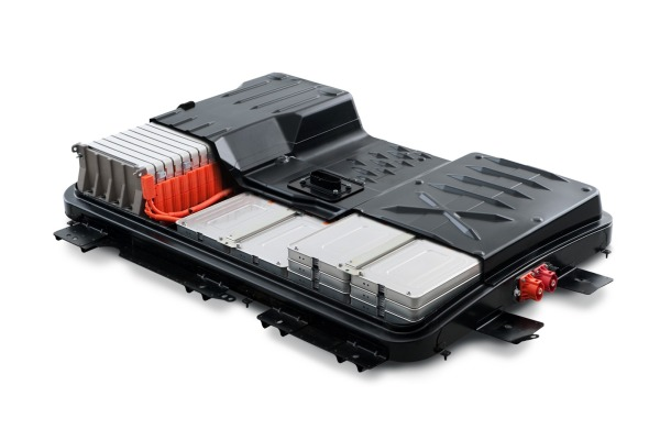 A lithium-ion battery from a Nissan Leaf. Credit: Nissan North America.