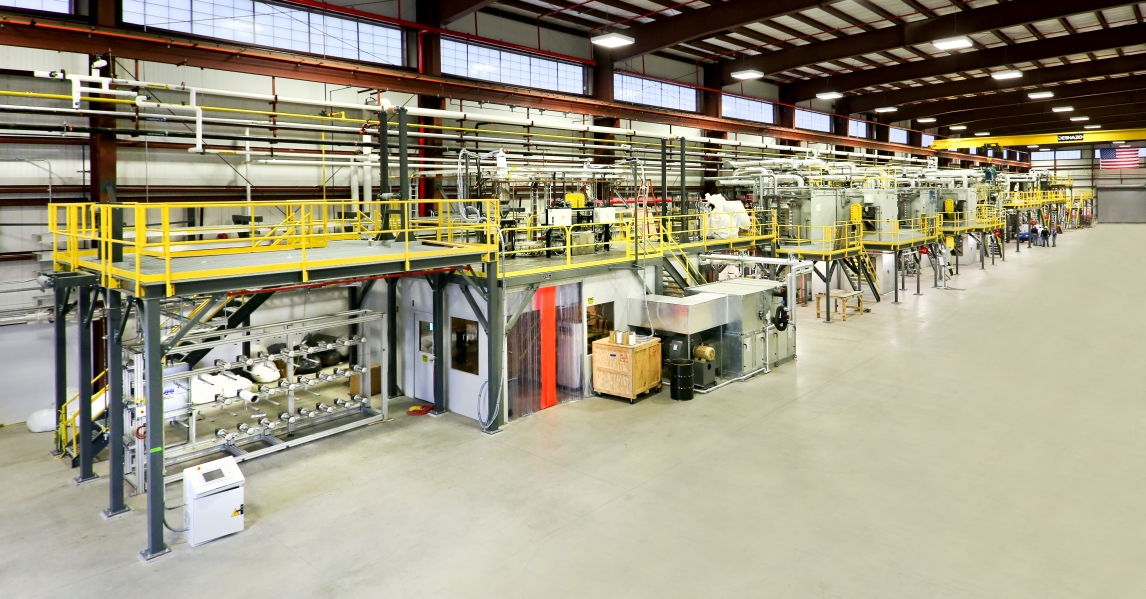 A look inside the new Carbon Fiber Technology Facility at Oak Ridge National Laboratory in Oak Ridge, Tennessee.