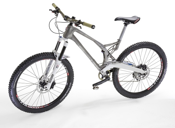 Renishaw and Empire Cycles achieved significant weight savings by redesigning this mountain bike for additive manufacturing production.
