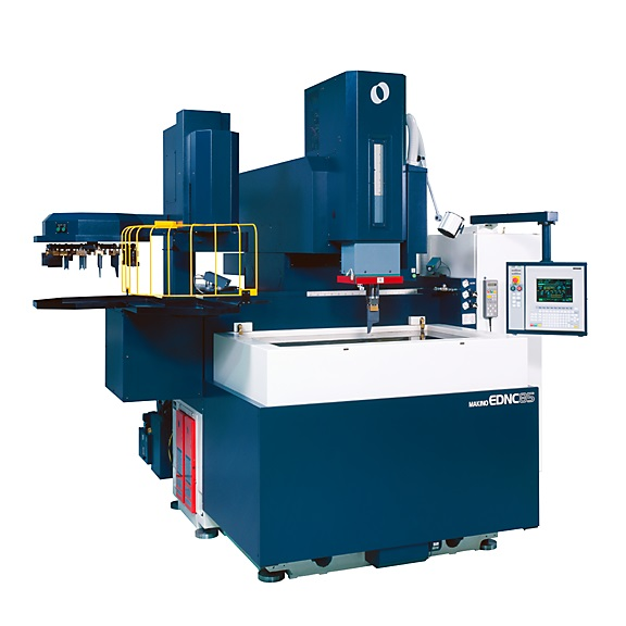 (Photo credit: Makino)  Makino's new HS-Rib high-speed Z-axis technology is available on the company's EDNC Series sinker machines for large parts.