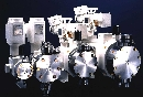 Metering Pumps offer manual, electric, or pneumatic actuation.