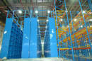 High-Rise Storage Shelving  optimizes use of warehouse space.