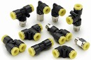 Push-to-Connect Fittings are suited for pneumatic service.