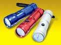 LED Flashlight features compact size.
