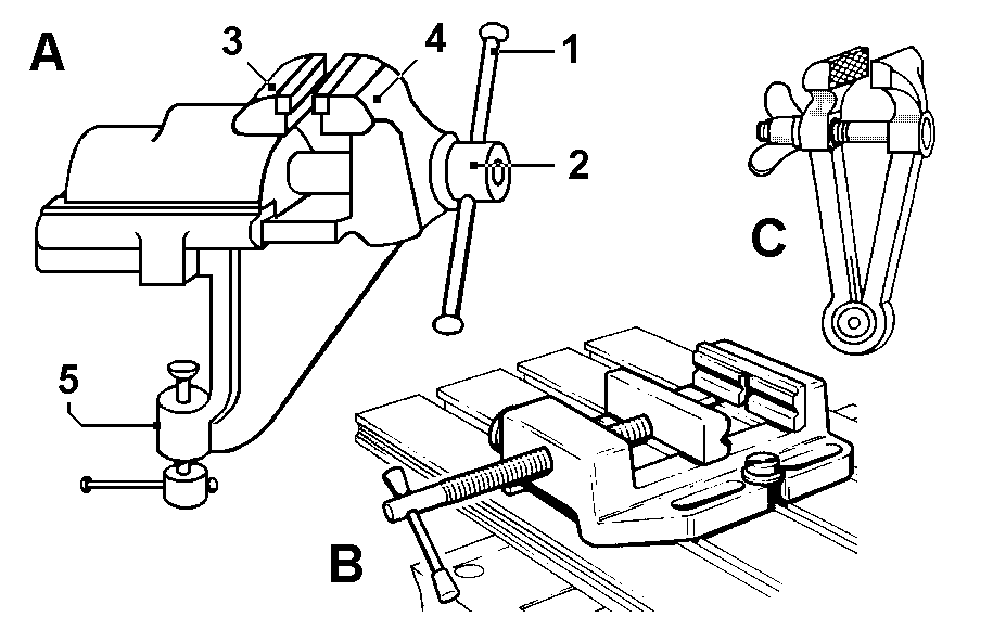 machine vice part drawing pdf