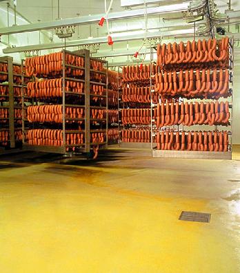 наливной пол на колбасном заводе